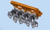 CNC gefräste Aluminiumflansche 40 mm Durchmesser